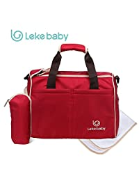 Lekebaby Shoulders Messengers Mummy Bags Size S Red