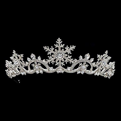 Real Austrian Rhinestone Crystals Snowflake Wedding Bridal Tiara Diadem Hair Accessories SHA8756