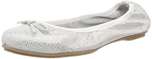 MARCO TOZZI premio Girls' 42404 Closed Toe Ballet Flats White (White 100)
