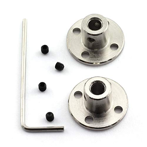- HJ Garden 2pcs 5mm Flange Shaft Coupling High Hardness Metal Flanged Joint Guide Shaft Support Coupler for DIY Model Shaft Connection
