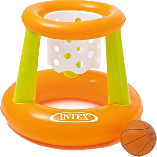 Intex Kids Swimming Pool & Aqua Fun Inflatable Floating Basketball Hoop Game