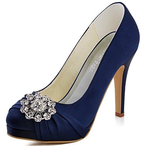 Women's Navy Blue Heels: Amazon.com