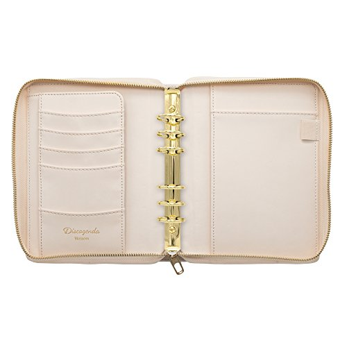 Discagenda Bliss Ringbound Planner Organizer Cover With Accessories (Personal Size Zip Closure, Personal)