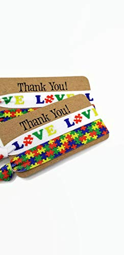 2 Pack- 2 Cards, 4 ties total - Wrist Bands- Bracelets- Hair ties (Cinch Free), Wrist Bands- great to show support, give as teacher/aide gift, or party favor. Can you be used as a hair tie