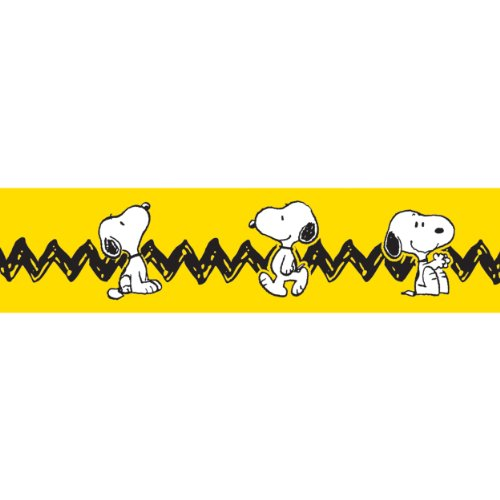 Eureka Classroom Deco Trim Peanuts Yellow with Snoopy