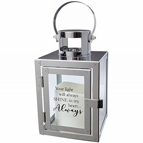 Gift Lantern - Lantern Sympathy Gifts with Message and Flameless LED Candle for Funeral Or Memorial Comfort The Grieving for Loss of A Loved One
