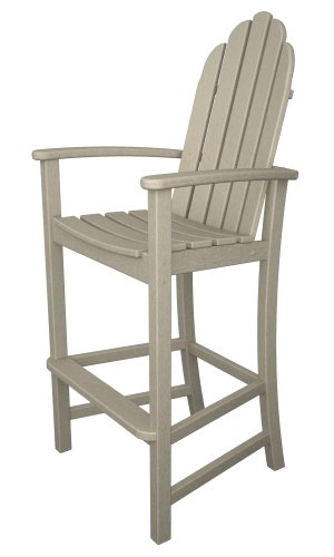 POLYWOOD Adirondack Bar Height Chair, Sand (Furniture Trex Sale)
