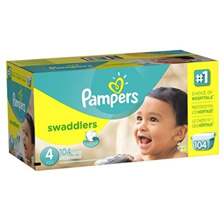 Pampers Swaddlers Diaper Size 4 Giant Pack 104 Count by Erwinshy