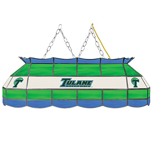 NCAA Tulane University Stained Glass 40 In Tiffany Lamp by Trademark Global