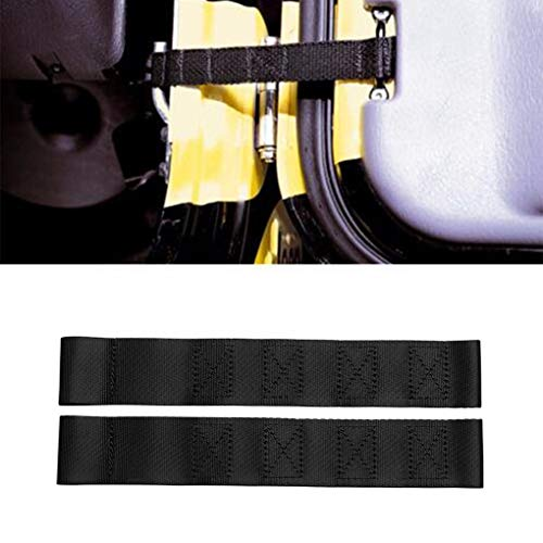 (New Duty Black Nylon Material Car Adjustable Door Limiting Strap Right & Left For Jeep Wrangler 1997-2018 Auto Accessories(Pack of)