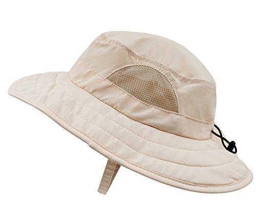 Connectyle Kids UPF 50+ Safari Sun Hat UV Sun Protection Hats Daily Play Hat with Velcro Straps (Safari Hats Kids)