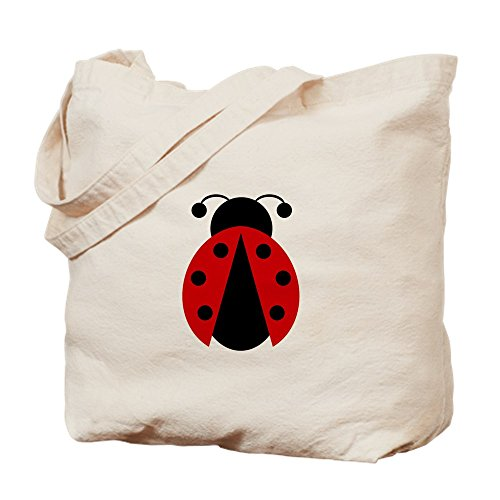 CafePress - Lady Bug - Natural Canvas Tote Bag, Cloth Shopping Bag