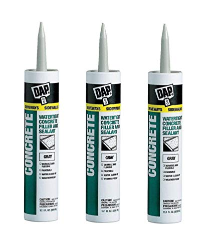 Dap 18021 Concrete and Mortar Watertight Filler and Sealant - Gray 10.1-oz Cartridge (18096). Sold as 3 -