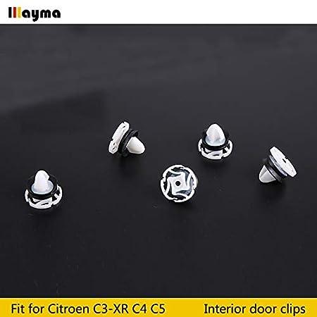 20X For Citroen C4 DS4 Interior Door Panel Card Trim Clips Car Accessories