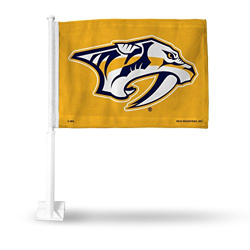 NHL Nashville Predators Car Flag, with White Pole