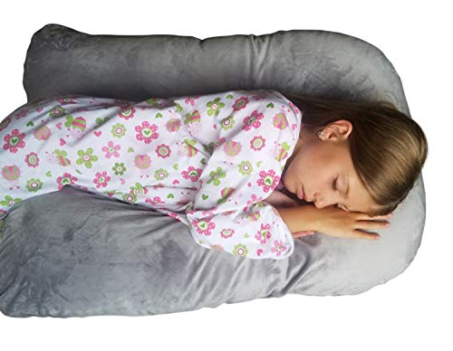 Sleep Zzz Bedtime Pillow w/Removable Washable Cover- Grey Color