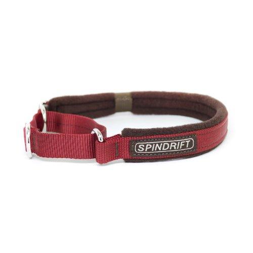 """Spindrift 324 Cozy Martingale Dog Training Collar - Large (3/4"""" x 18-25""""), Brick"""