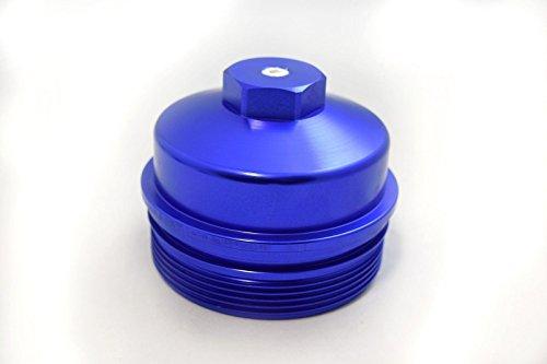 [RDP Billet Aluminum Oil Filter Cap For 2003-2010 Ford 6.0L/6.4L Powerstroke Diesel] (6.4l Powerstroke Diesel)