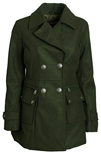 Buy belted khaki double breasted shirt dress - 1