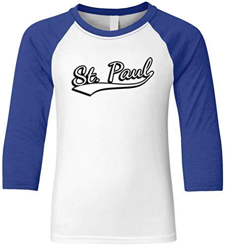 Amdesco St. Paul, Minnesota Youth Raglan Shirt, Royal/White XL
