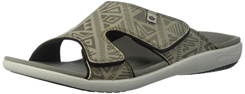 Tribal Men's Spenco Grey Oyster Sandal Slide 5cAc1B4y