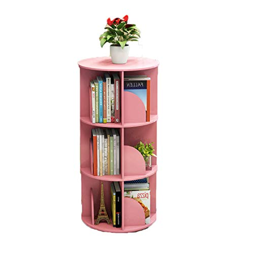 E 40x97cm(16x38inch) Revolving Bookshelf,Easy Assembly Multifunctional Bookcase Simple Modern Table Floor-Standing Storage Rack Multi-Tier for Home-B 40x97cm(16x38inch)