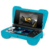"Comfort Grip for Original 3DS (Not the ""NEW""  version) – Silicone Protective Cover Gives Your 3DS Armor - (Transparent Blue)"