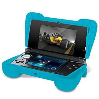 "Comfort Grip for Original 3DS (Not the ""NEW"" version) - Silicone Protective Cover Gives Your 3DS Armor - (Transparent Blue) (B004S9GBO8) 