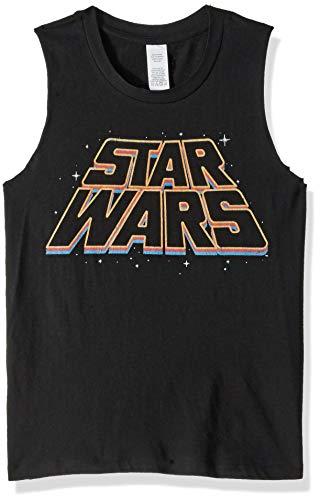 Star Wars Junior's Women's Fashion Muscle Tees, Black // Slanty Logos, x-Small ()