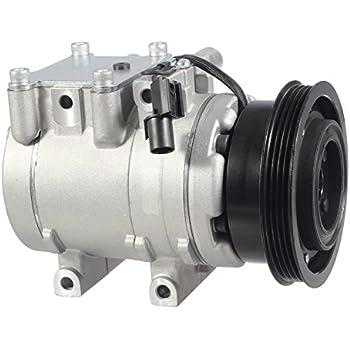 AUTEX AC Compressor & A/C Clutch CO 10926C 67191 78347 Fits for 2001 2002 2003 2004 2005 2006 Hyundai Elantra 2003 2004 2005 2006 2007 2008 Hyundai Tiburon ...