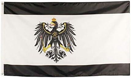 Reich alem/án Bandera del Imperio Vivid poli/éster Resistente Color y la luz UV con Arandelas de lat/ón LIziZhao 6 /× 8foot 120 * 180cm Color : White, Size : 120 x 180cm