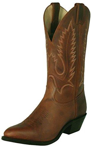 Boulet Heren Uitdager Cowboy Laars Medium Teen Goudgeel Goudbruin
