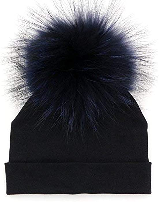 34cb65debb9 Amazon.com  GZHILOVINGL Baby Toddler Bonnet Hat With Big Real Fur ...