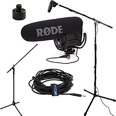 Rode VideoMic Pro R Studio Boom Kit – VMPR, Boom Soporte, Adaptador y 25 Cable: Amazon.es: Electrónica