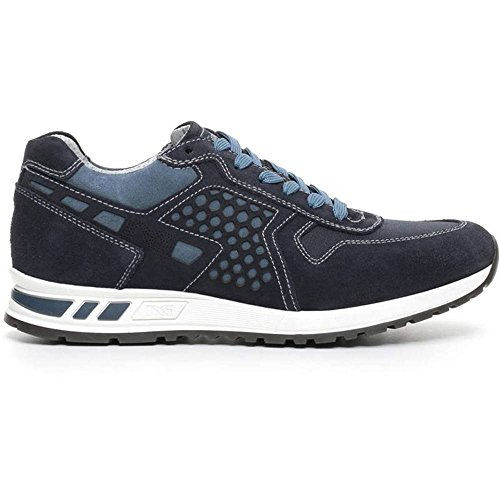 Sneaker Uomo in Tela Blu P704901U 200 - Nero Giardini