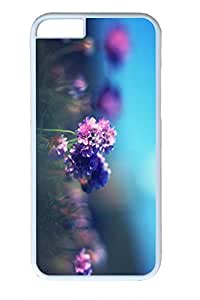 iPhone 6 Plus Case, Personalized Protective Hard PC White Case Cover for Apple iPhone 6 Plus(5.5 inch)- Light Flower