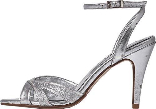 Zapatos baile tobillo de y de aguja Correa para Tacón brillante tacón Silver diseño por con en honor Dama Sandalias de nupcial alto el mujer de Lexus reluciente fiesta de gBqw1xadP