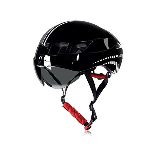 Visor Goggles - Anharluka Road/Mountain Bike Helmet with Detachable Magnetic Shield Visor (Goggle), for Multi-sport (Black)