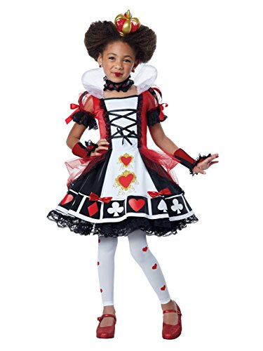 California Costumes Deluxe Queen of Hearts Costume, Red/Black/White, -