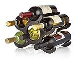 AdirHome Wooden Wine Rack - 6 Bottle (Espresso)