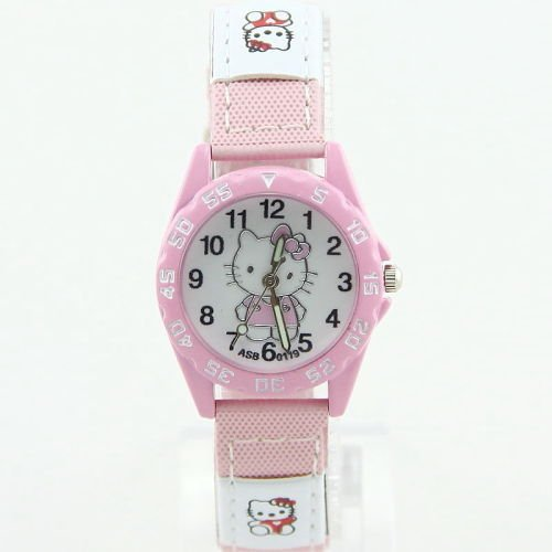 (Hello Kitty - Super Cute Sport Style Wrist Watch (Pink))