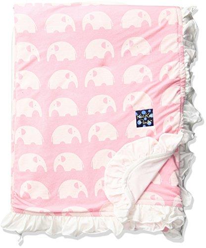 Kickee Pants Baby Essentials Print Ruffle Stroller Blanket, Lotus Elephant, One (Lotus Elephant)