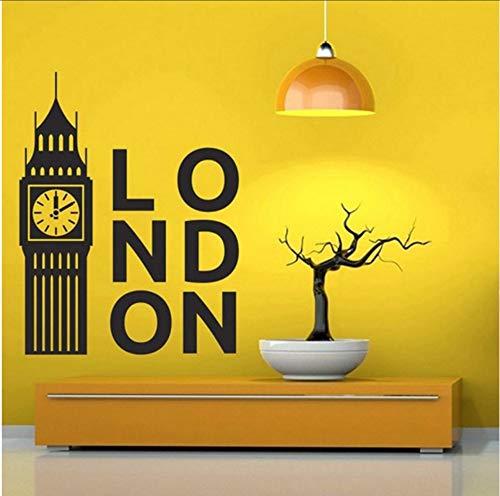 LSFHB United Kingdom London Clock Decal Bedroom Decoration Art Poster Big Ben Vinyl Wall Sticker Home Decor Living Room Decal -