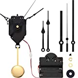 Hicarer Quartz Pendulum Trigger Clock Movement Chime Music Box Completer Pendulum Clock Kit with 3 Pairs of Spades, Fancy, Straight Clock Hands