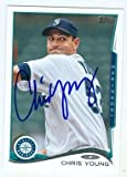 Chris Young autographed baseball card (Seattle Mariners) 2013 Topps #US133