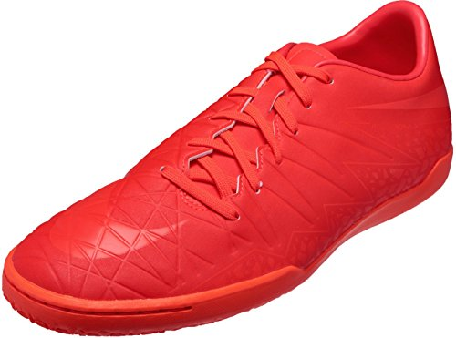 Nike Mens Hypervenom Phelon II IC Indoor Soccer Shoe (Sz. 8) Bright Crimson