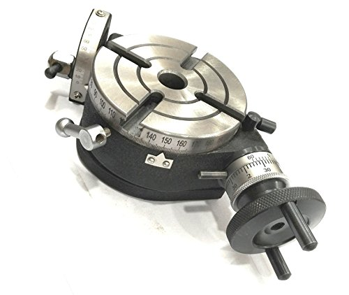 Precision 4'' Inch/ 100 mm Tilting Rotary Table with MT2 Bore-Milling, Lathe,Engineering Tools by ASSORTS