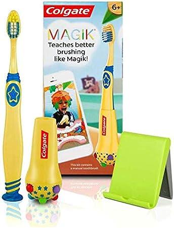 Magik Kit de cepillado con cepillo de dientes manual suave 6+