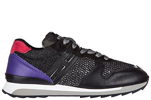 Hogan Rebel Dames Schoenen Sneakers Damesschoenen Van Leer Sneakers R261 Allacciato Zwart Eu 38,5 Hxw2610q901dyt0xl1