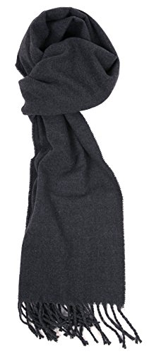 (Love Lakeside-Men's Cashmere Feel Winter Solid Color Scarf (One, 00-0 Grey Flannel))